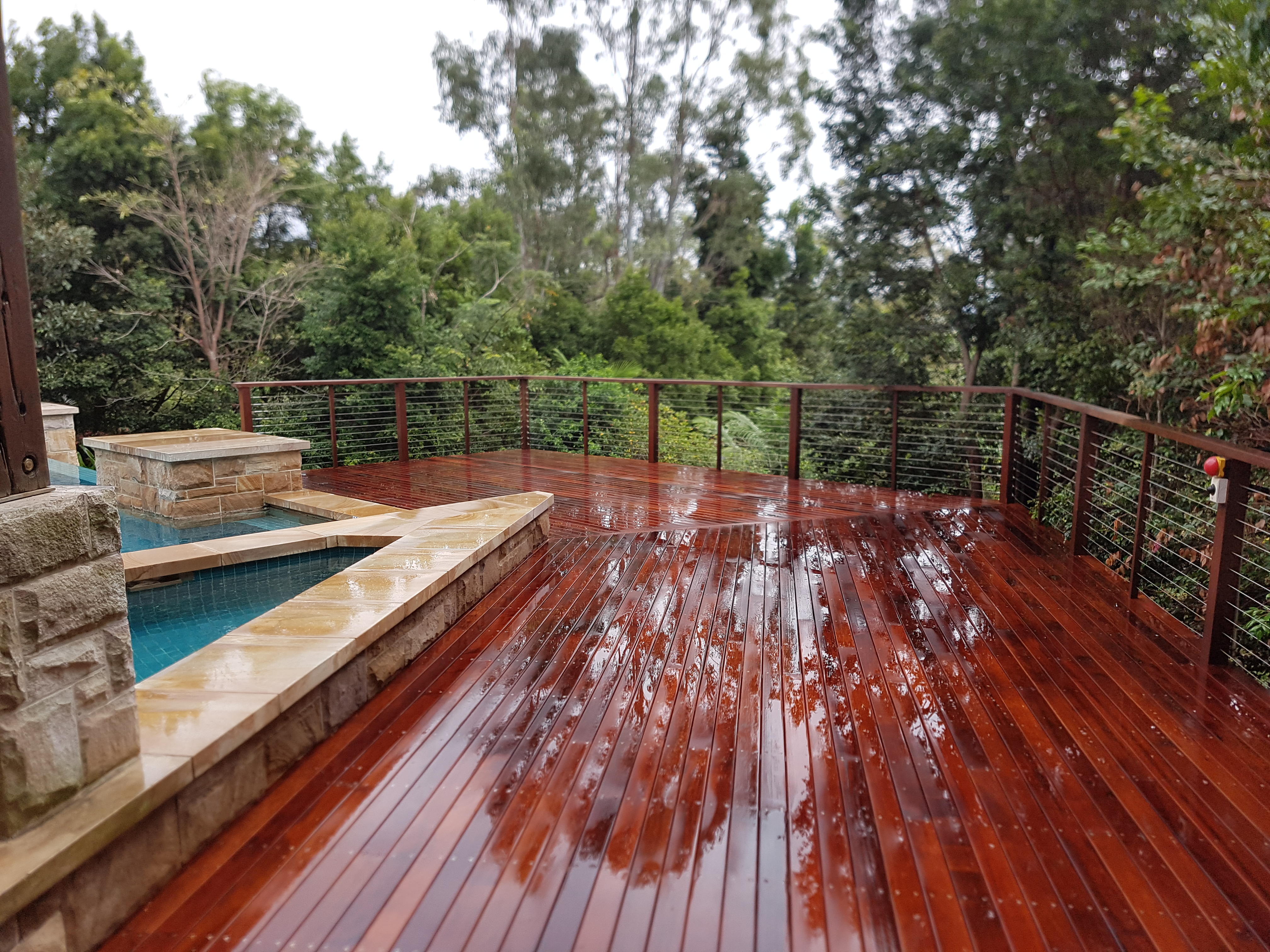 Wooden Deck Highland Park Gated Community
